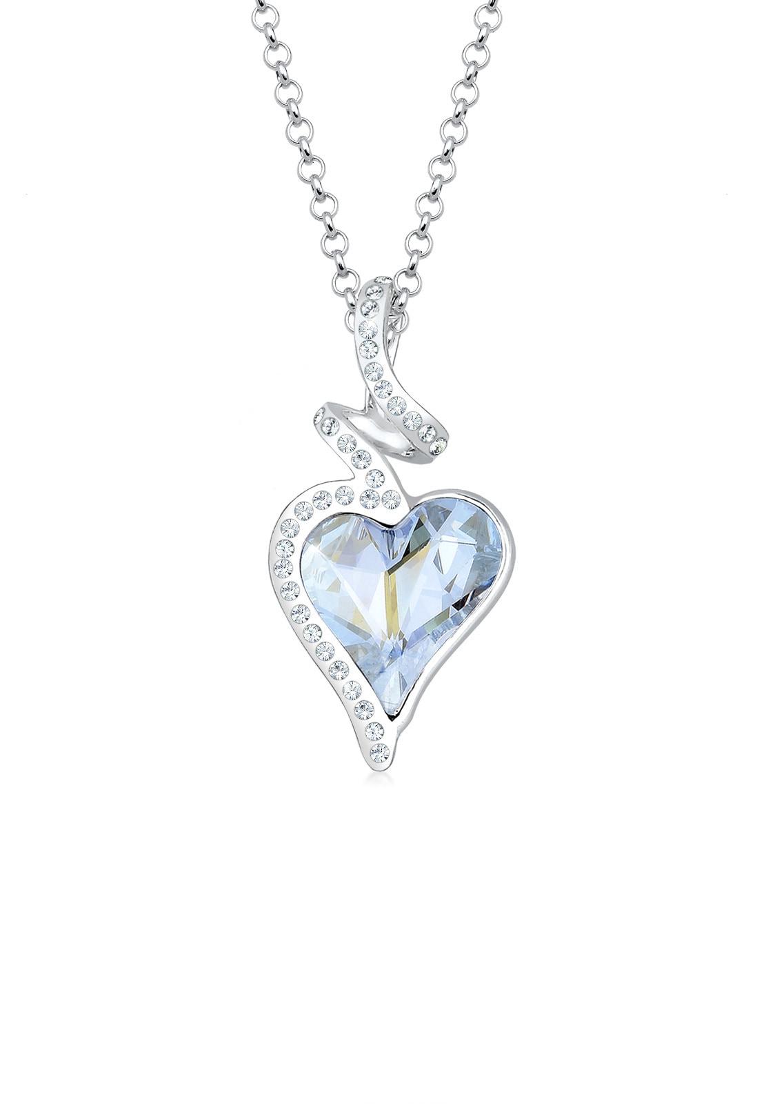 Elli Collierkettchen Herz Liebe Swarovski Kristalle 925 Silber Cara