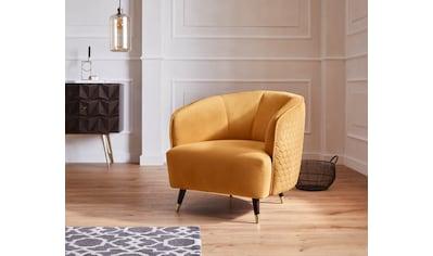 Guido Maria Kretschmer Home&Living Sessel »Oradea«, mit eleganter Steppung auf Rückseite der Rückenlehne kaufen
