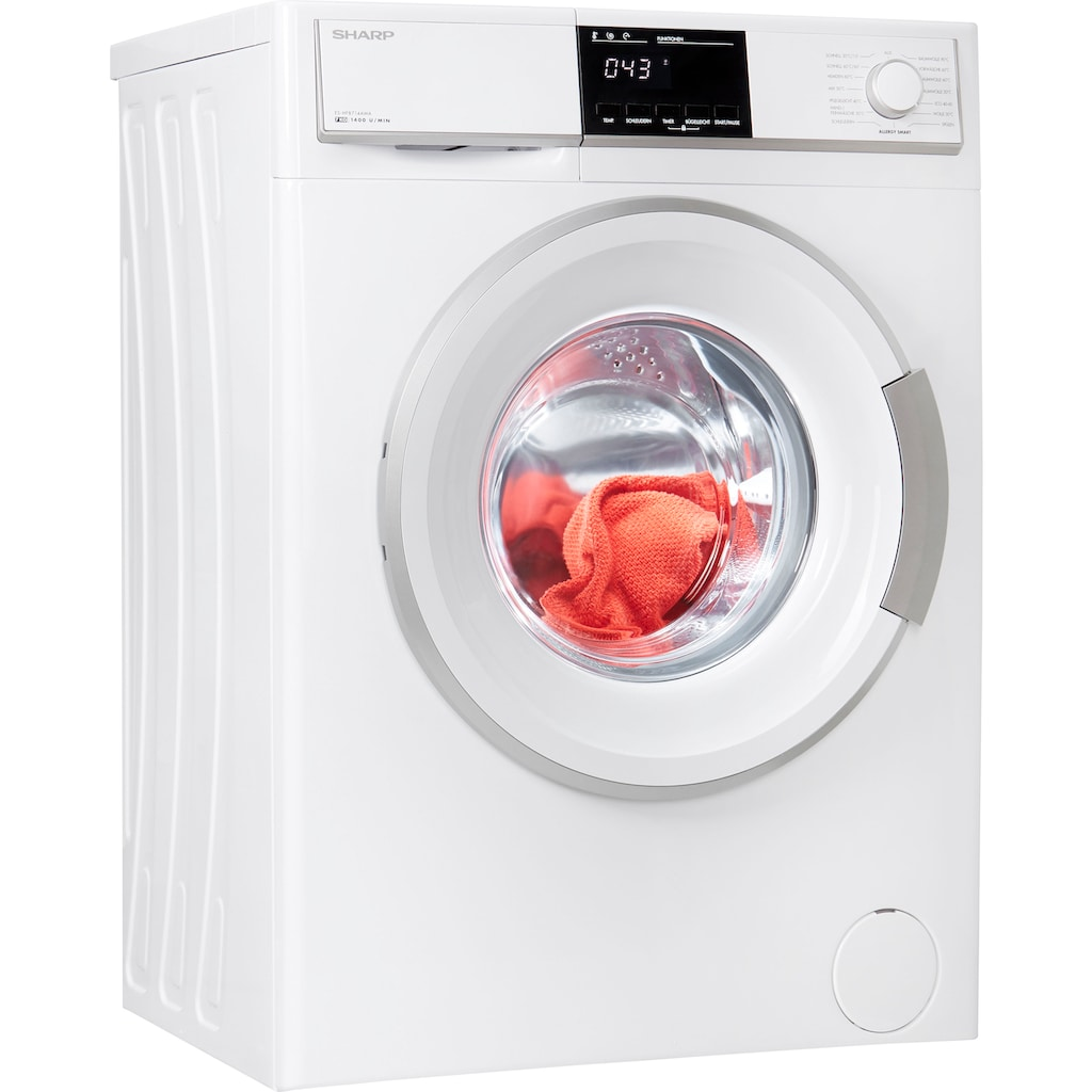 Sharp Waschmaschine »ES-HFB714AWA-DE«, ES-HFB714AWA-DE, 7 kg, 1400 U/min