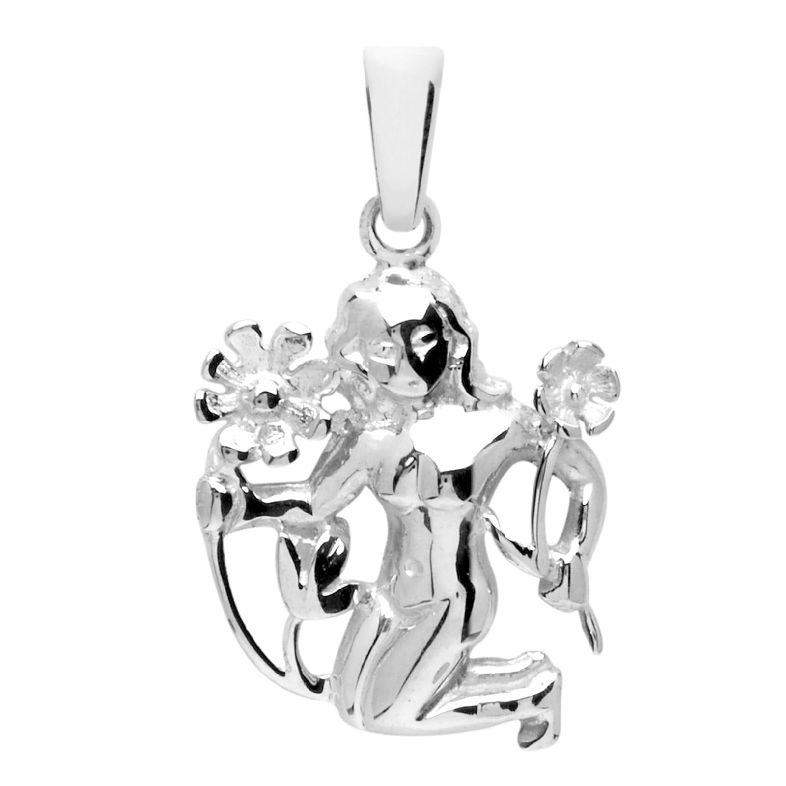 OSTSEE-SCHMUCK Kettenanhänger Tierkreiszeichen Jungfrau Silber 925/000 | Schmuck > Halsketten > Silberketten | Ostsee-Schmuck