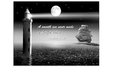 Artland Glasbild »Ein ruhiges Meer Seemann«, Boote & Schiffe, (1 St.) kaufen
