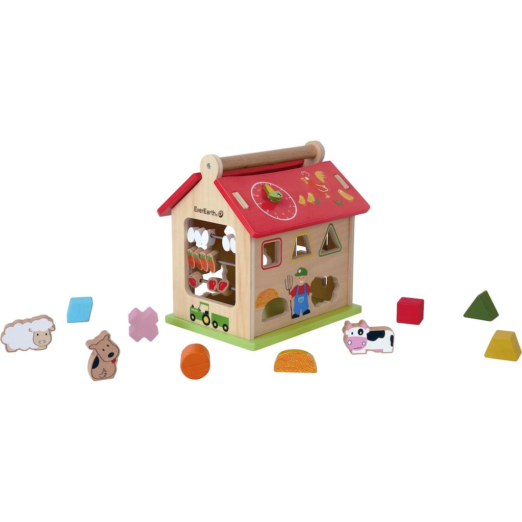 EverEarth® Steckspielzeug »Bauernhof Sortierspiel«, FSC®-Holz aus gewissenhaft bewirtschafteten Wäldern