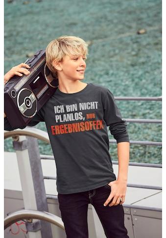 KIDSWORLD Langarmshirt »Ich bin nicht planlos...« kaufen