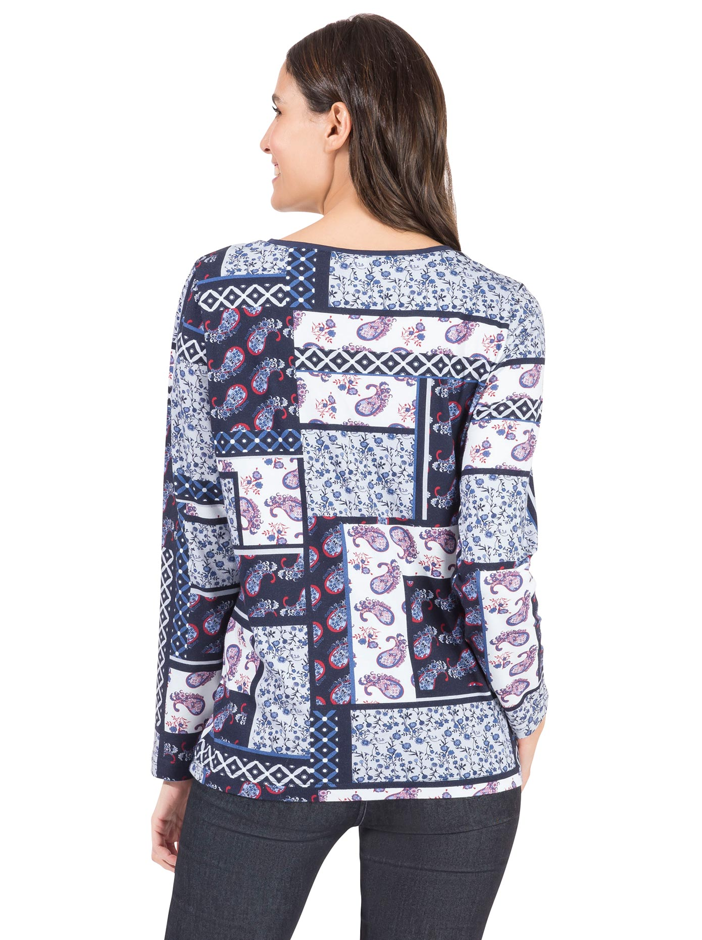 inspirationen -  Langarm-Poloshirt