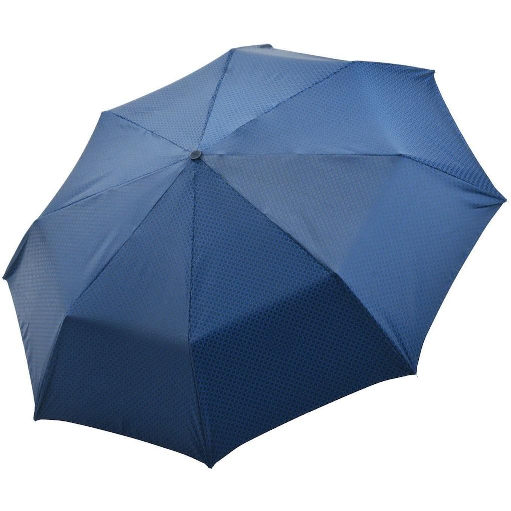 doppler MANUFAKTUR Taschenregenschirm »Orion, blau«, handgemachter Manufaktur-Taschenschirm