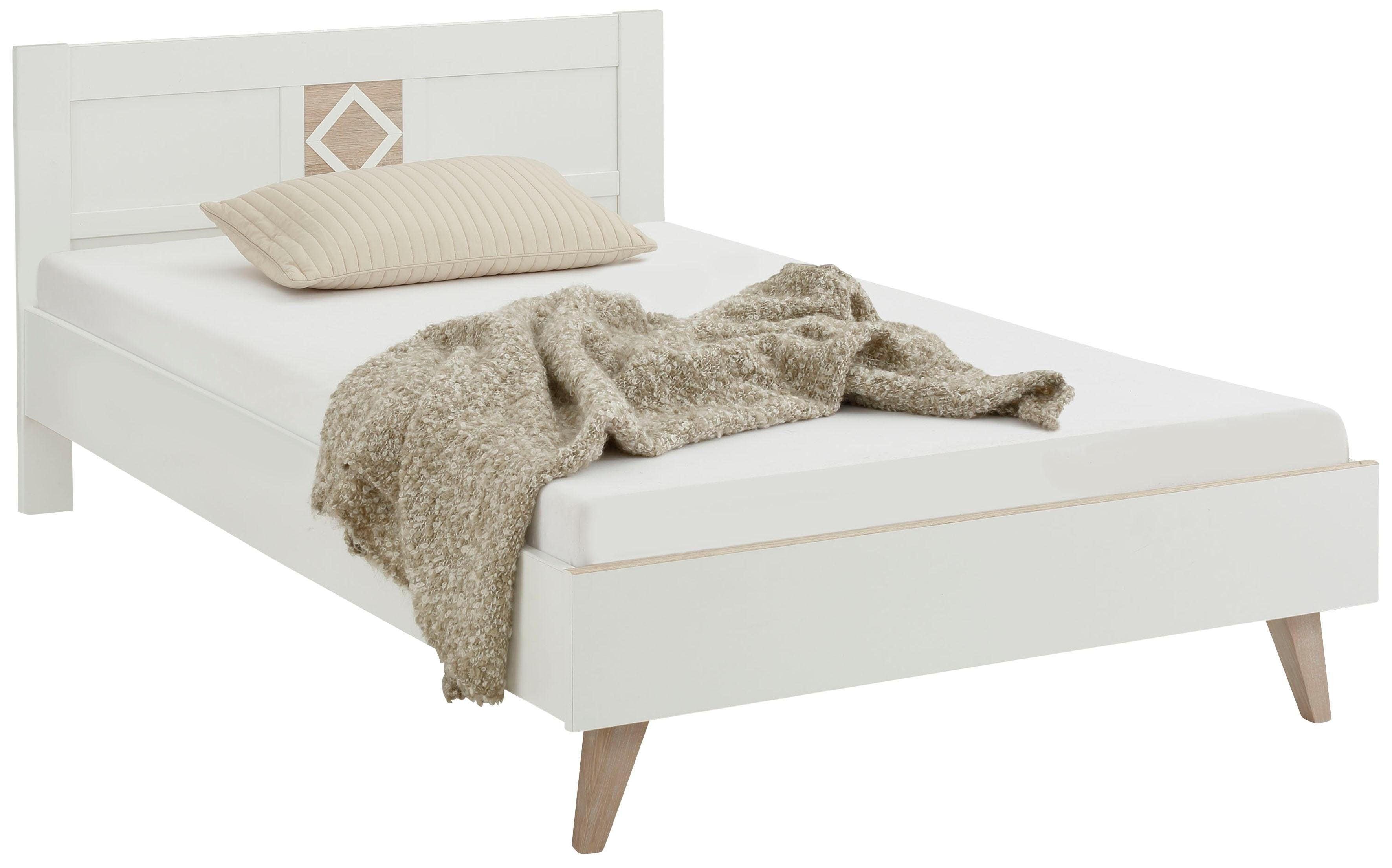 Bett Victor, Kinderbett, Einzelbett weiß Betten