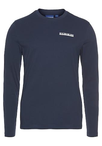 Napapijri Langarmshirt, mit Logobrustprint kaufen