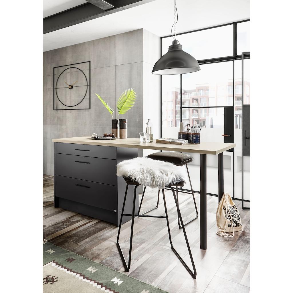 set one by Musterring Küchenbar »Nashville«, Küchenbar ohne Geräte, Stellbreite 180x90 cm, mit Metallgriffen