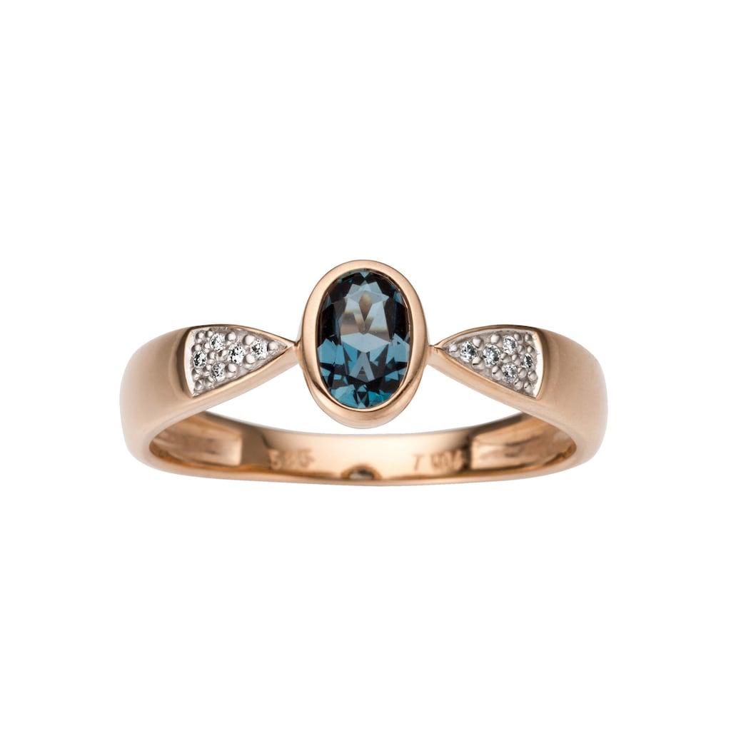 Firetti Diamantring, mit Brillanten und Blautopas