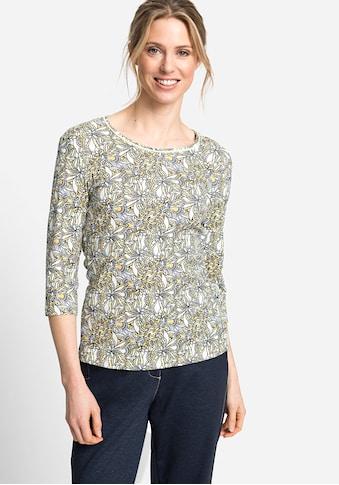Olsen Rundhalsshirt, mit floralem Allover-Print kaufen