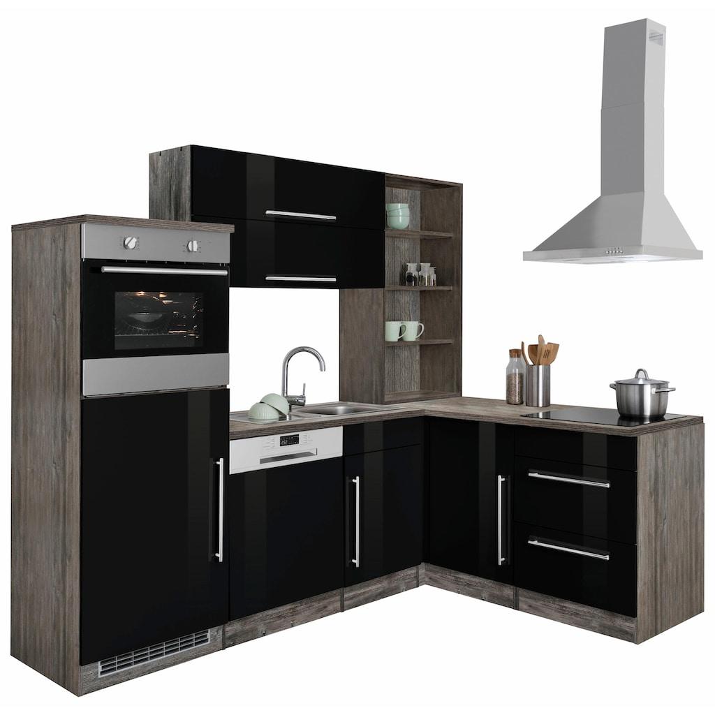 HELD MÖBEL Winkelküche »Samos«, ohne E-Geräte, Stellbreite 230 x 170 cm