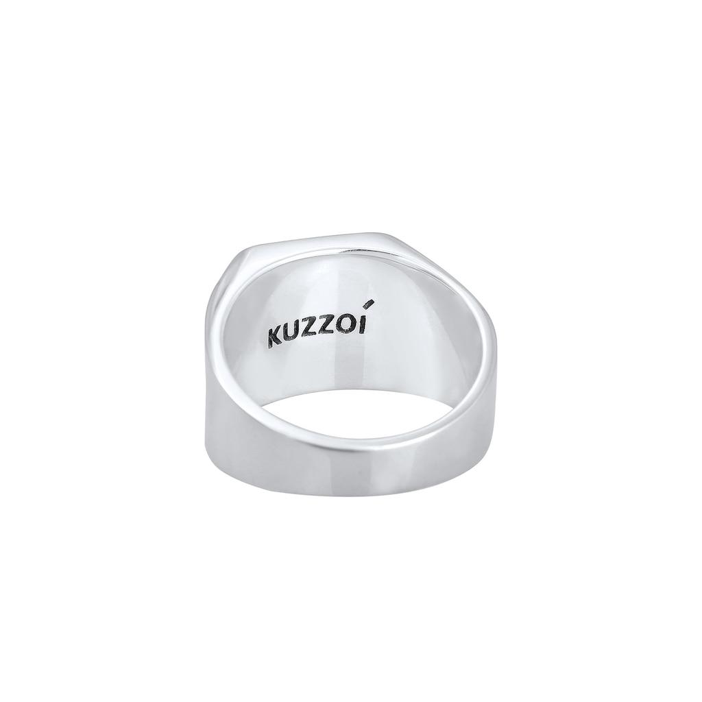 Kuzzoi Siegelring »Herren Siegelring Matt Basic Pfeil 925er Silber«