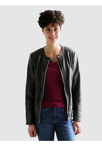 Dress In Lederimitatjacke, mit leichtem Stehkragen kaufen