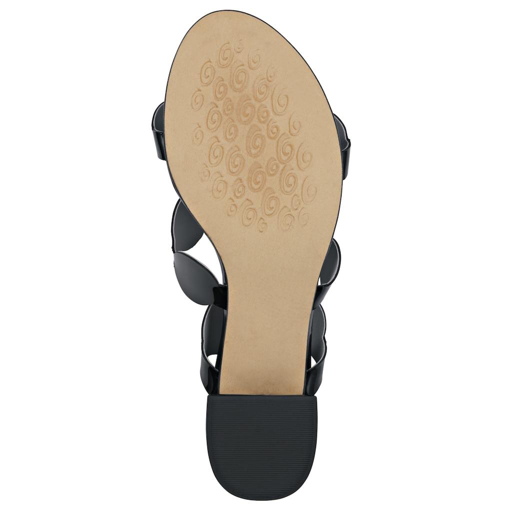 Sandalette mit dekorativen Riemchen