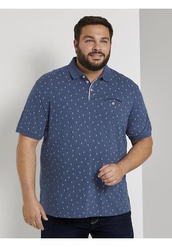 TOM TAILOR Men Plus Poloshirt »Poloshirt mit Kaktus - Print in Mélange - Optik« kaufen