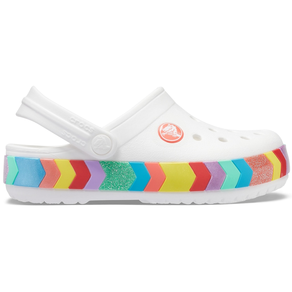Crocs Clog »Crocband Chevron Beaded Clog K«, mit buntem Band