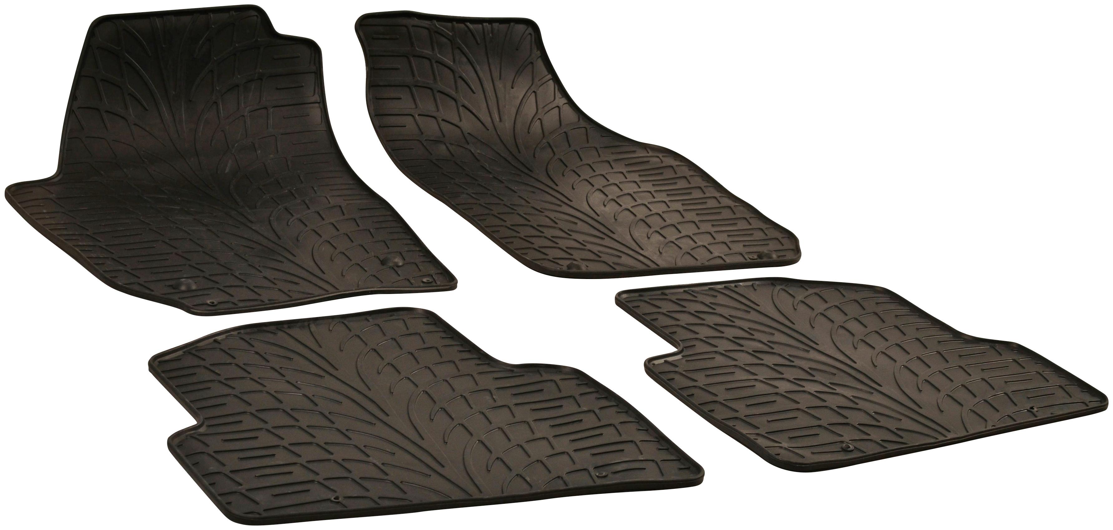 WALSER Passform-Fußmatten, Skoda, Fabia, Kombi-Schrägheck, (4 St., 2 Vordermatten, Rückmatten), für Skoda Fabia BJ 2007 - 2014 schwarz Automatten Autozubehör Reifen Passform-Fußmatten