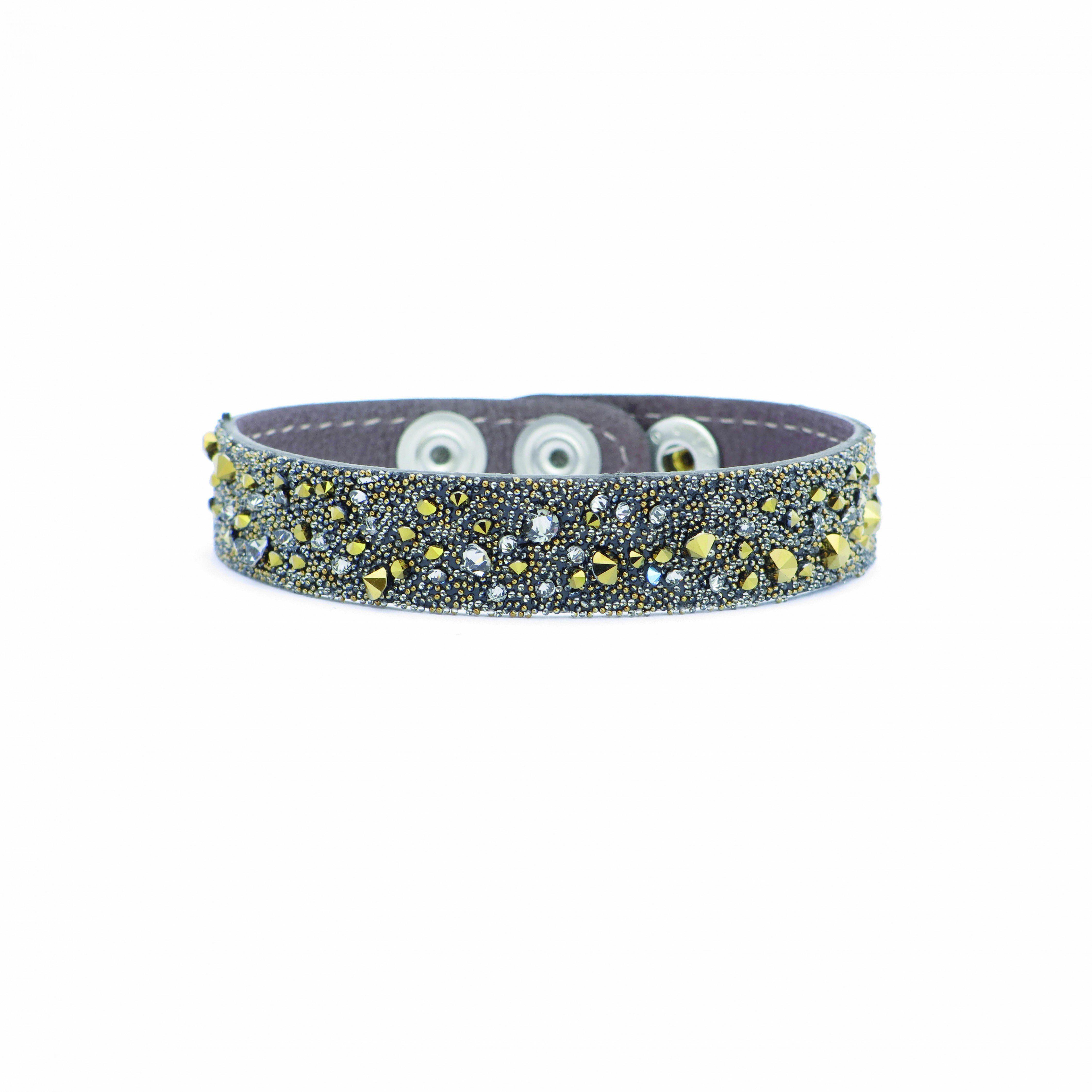 LOVING CRYSTAL Leder-Armband mit Glitzerstein-Verzierung Preisvergleich