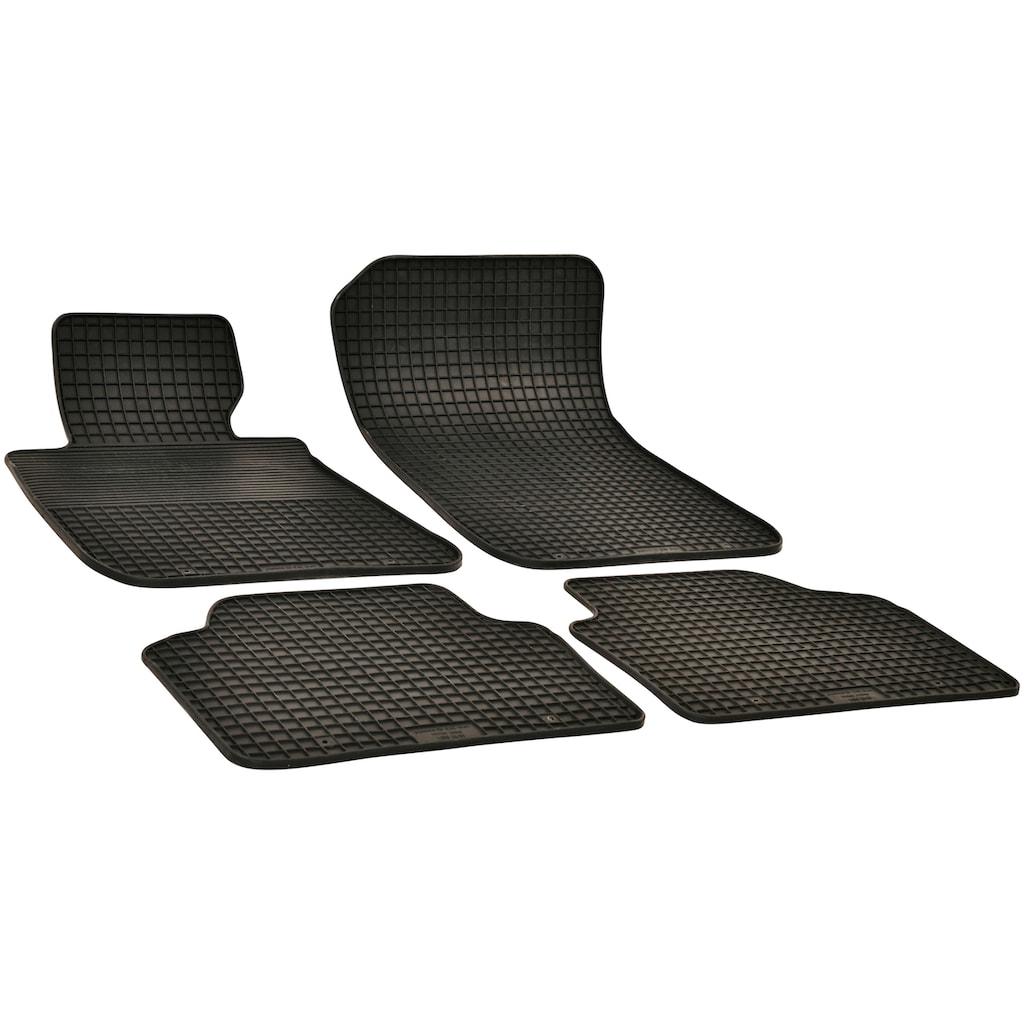 WALSER Passform-Fußmatten, (4 St.), für VW Golf 7, VW Golf 8, Audi A3, Seat Leon