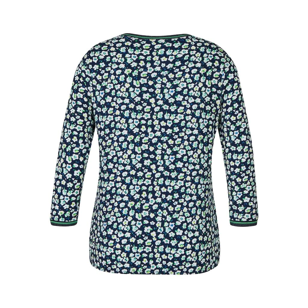 Rabe Shirt mit Glitzerdetails und Blumen-Muster
