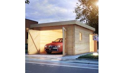 KARIBU Garage »Florian«, BxT: 417x571 cm, Einfahrtshöhe: 193 cm, mit Dachfolie kaufen