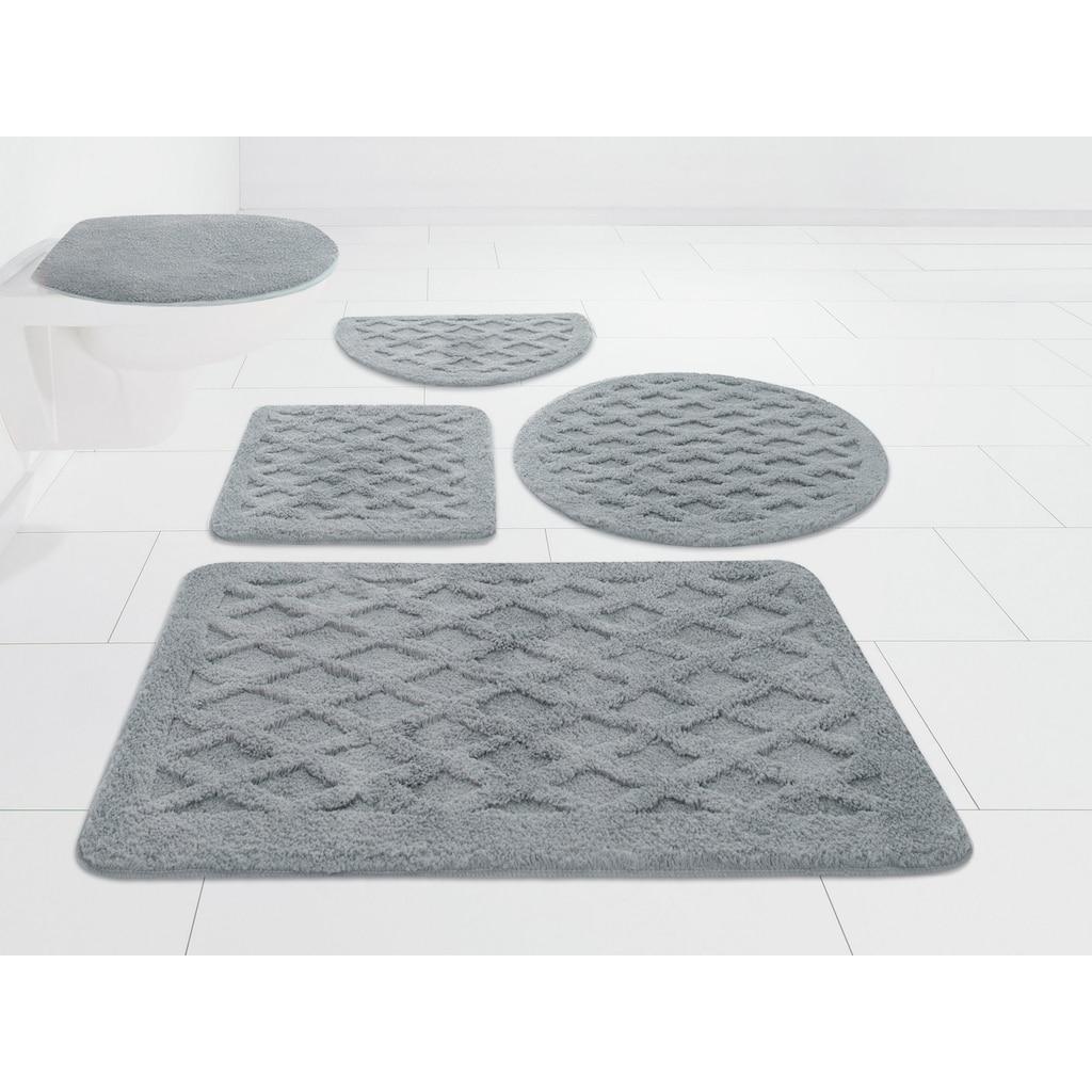 DELAVITA Badematte »Aidan«, Höhe 25 mm, strapazierfähig, 3D-Effekt