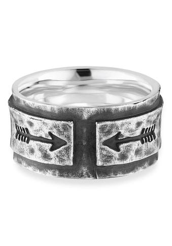 CAÏ Fingerring »925/- Sterling Silber rhodiniert matt Pfeile«, Ring kaufen