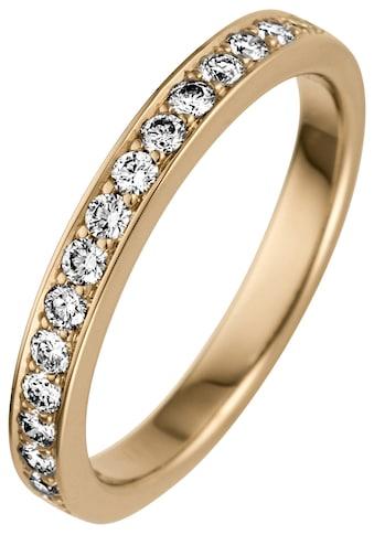 JOBO Fingerring, 585 Gold mit 17 Diamanten kaufen