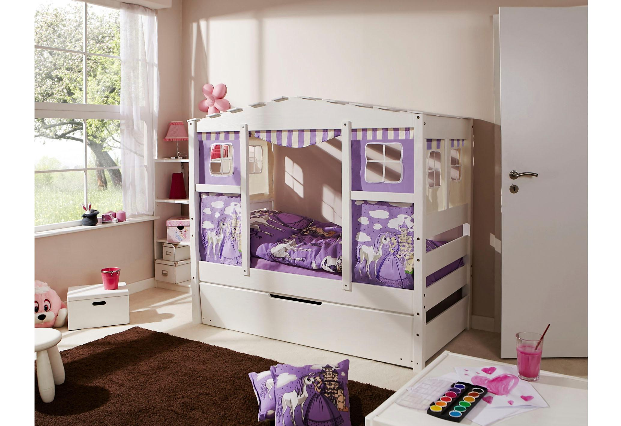 Ticaa Hausbett Lio lila Kinder Kinderbetten Kindermöbel