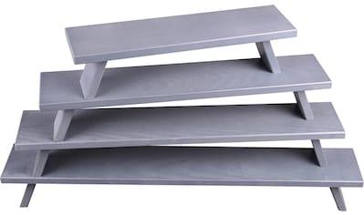 Weigla Schwibbogen-Fensterbank, aus FSC®-zertifiziertem Holz, grau-lackiert, Höhe ca.... kaufen