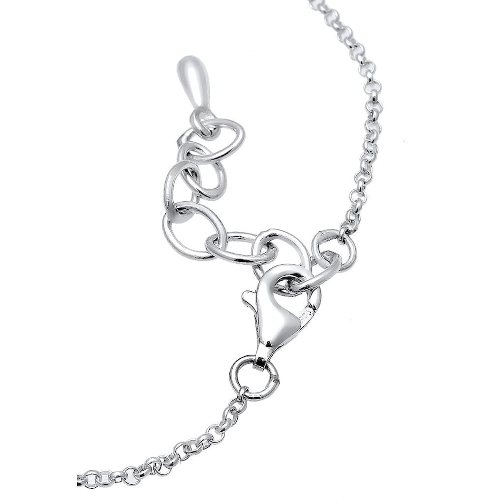 Elli Fußkette »Basic Kreis Geo Trend Minimal 925 Sterling Silber«