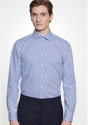 seidensticker Businesshemd »Slim«, Slim Langarm Kentkragen Karo kaufen