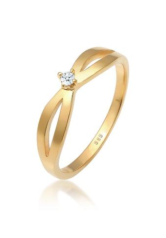 Diamore Diamantring »Verlobung Vintage Diamant (0.03 ct.) 585 Gelbgold« kaufen
