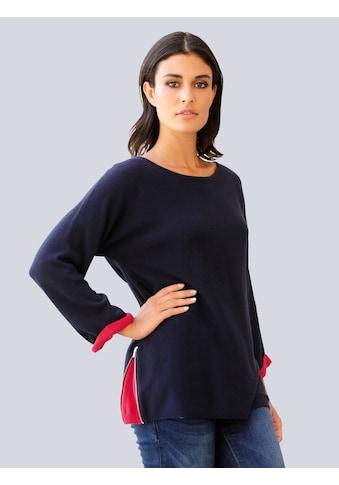 Alba Moda Pullover mit seitlichem Zipper kaufen