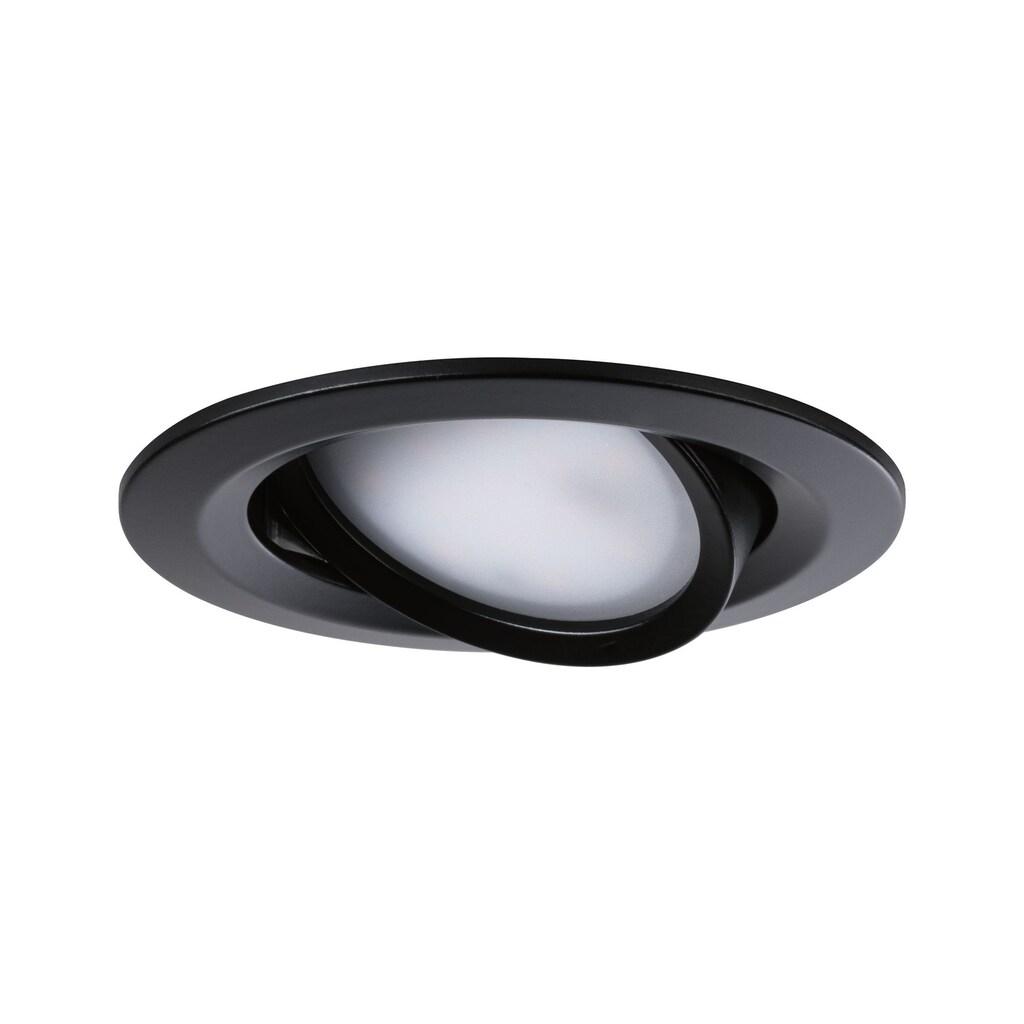 Paulmann LED Einbaustrahler »3er-Set Nova rund schwenkbar 3x6,5W Warmweiß Schwarz/Matt«, 3 St., Warmweiß
