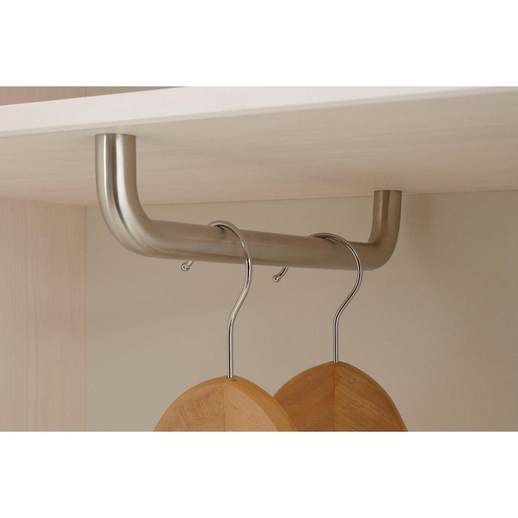 Home affaire Garderobenschrank »Jossy«, mit Spiegel, aus massiver Kiefer, Breite 85 cm