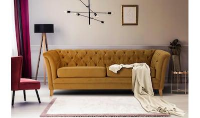 Home affaire 3-Sitzer »Newport«, mit Knopfheftung im Rücken, Keder und feinen Armlehnen kaufen