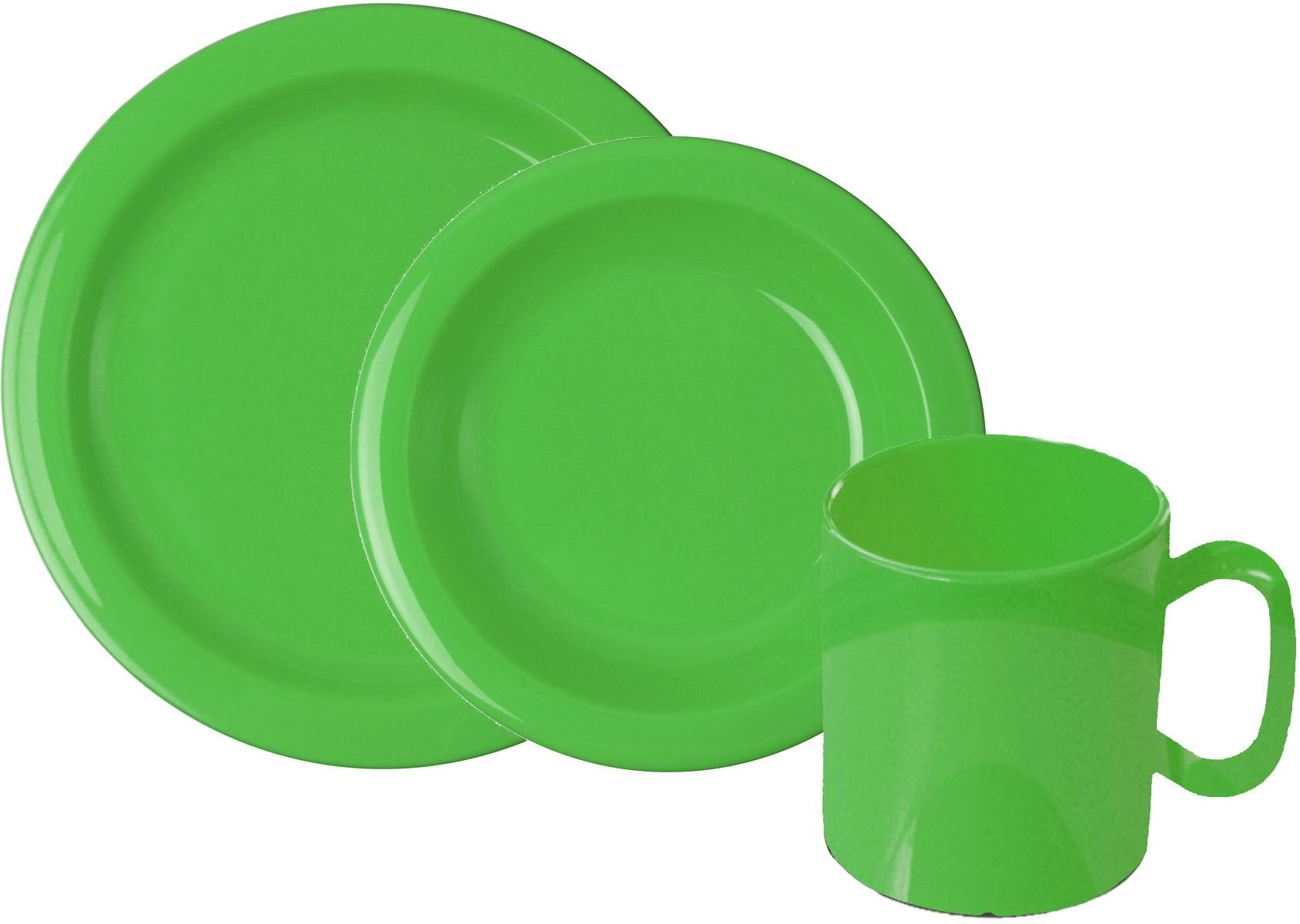 WACA Frühstücks-Geschirrset, (Set, 6 tlg.) grün Frühstücksset Eierbecher Geschirr, Porzellan Tischaccessoires Haushaltswaren Frühstücks-Geschirrset