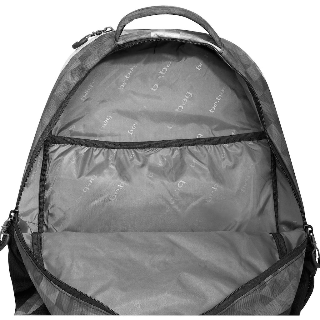 Pelikan Schulrucksack »be.bag be.explorer, Geo Lines«, Reflektionsnähte-reflektierende Streifen auf den Schultergurten