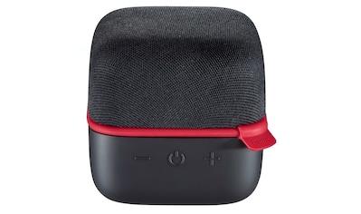 """Hama Mobiler Bluetooth® - Lautsprecher """"Cube"""", Schwarz/Rot »Klein, aber Multi« kaufen"""