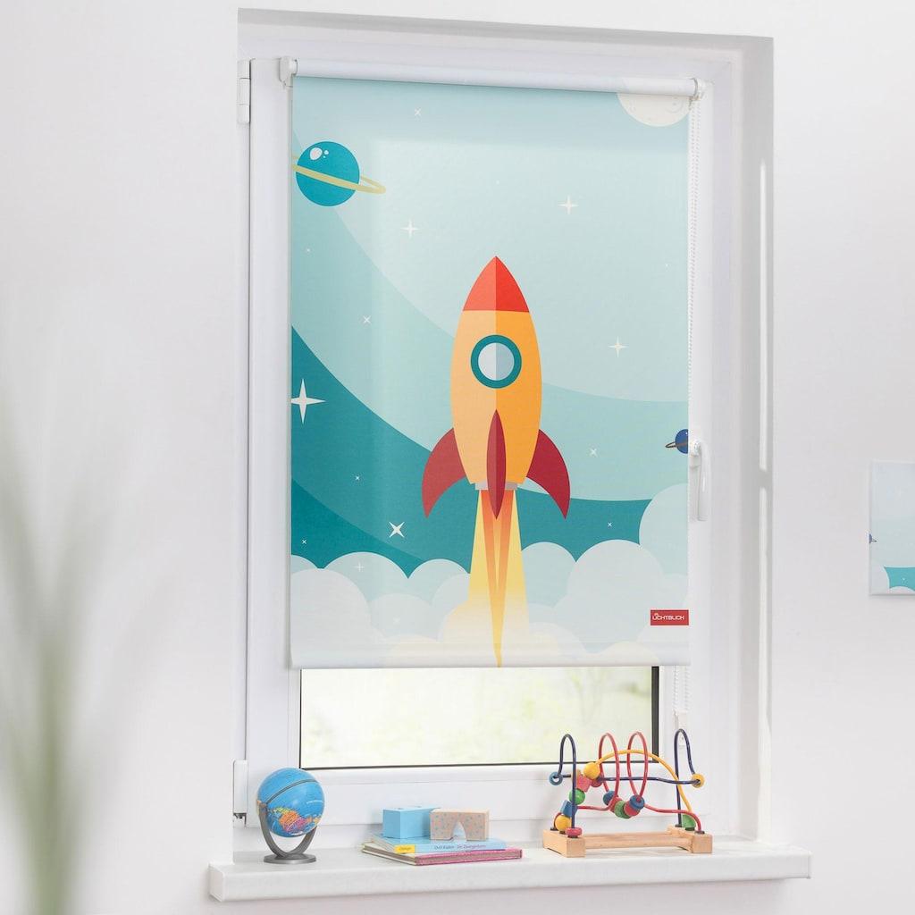 LICHTBLICK Seitenzugrollo »Klemmfix Digital Rakete«, verdunkelnd, energiesparend, ohne Bohren, freihängend, bedruckt