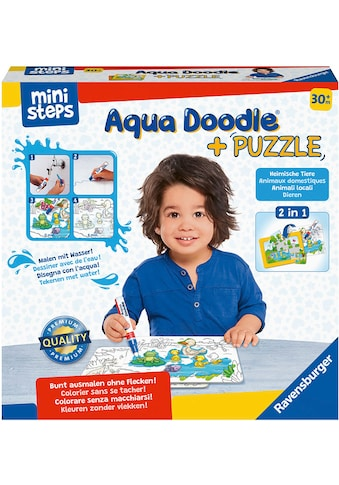 Ravensburger Kreativset »ministeps® Aqua Doodle® Puzzle: Heimische Tiere«, Made in Europe kaufen