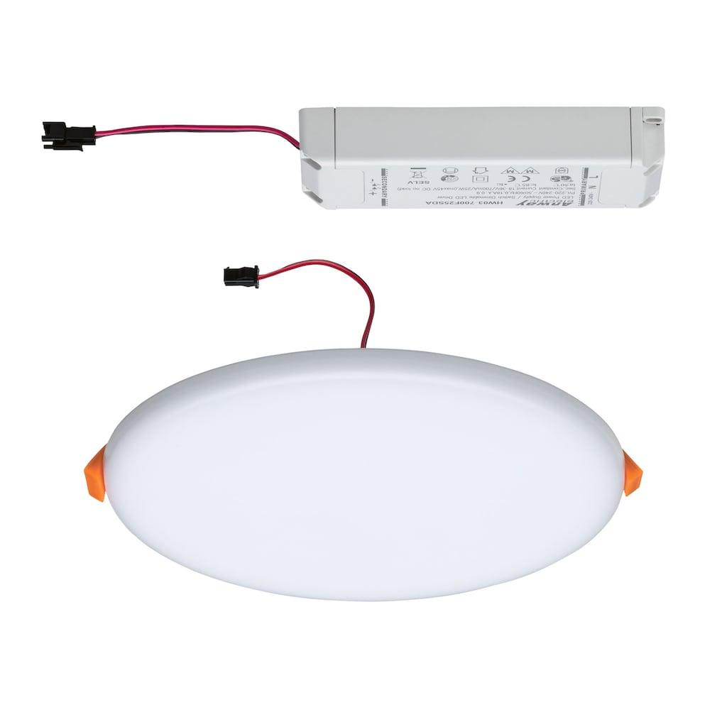 Paulmann LED Einbauleuchte »Panel Veluna VariFit IP44 3-Stufen-dimmbar rund 185mm 17W 3.000K Satin«, 1 St., Warmweiß