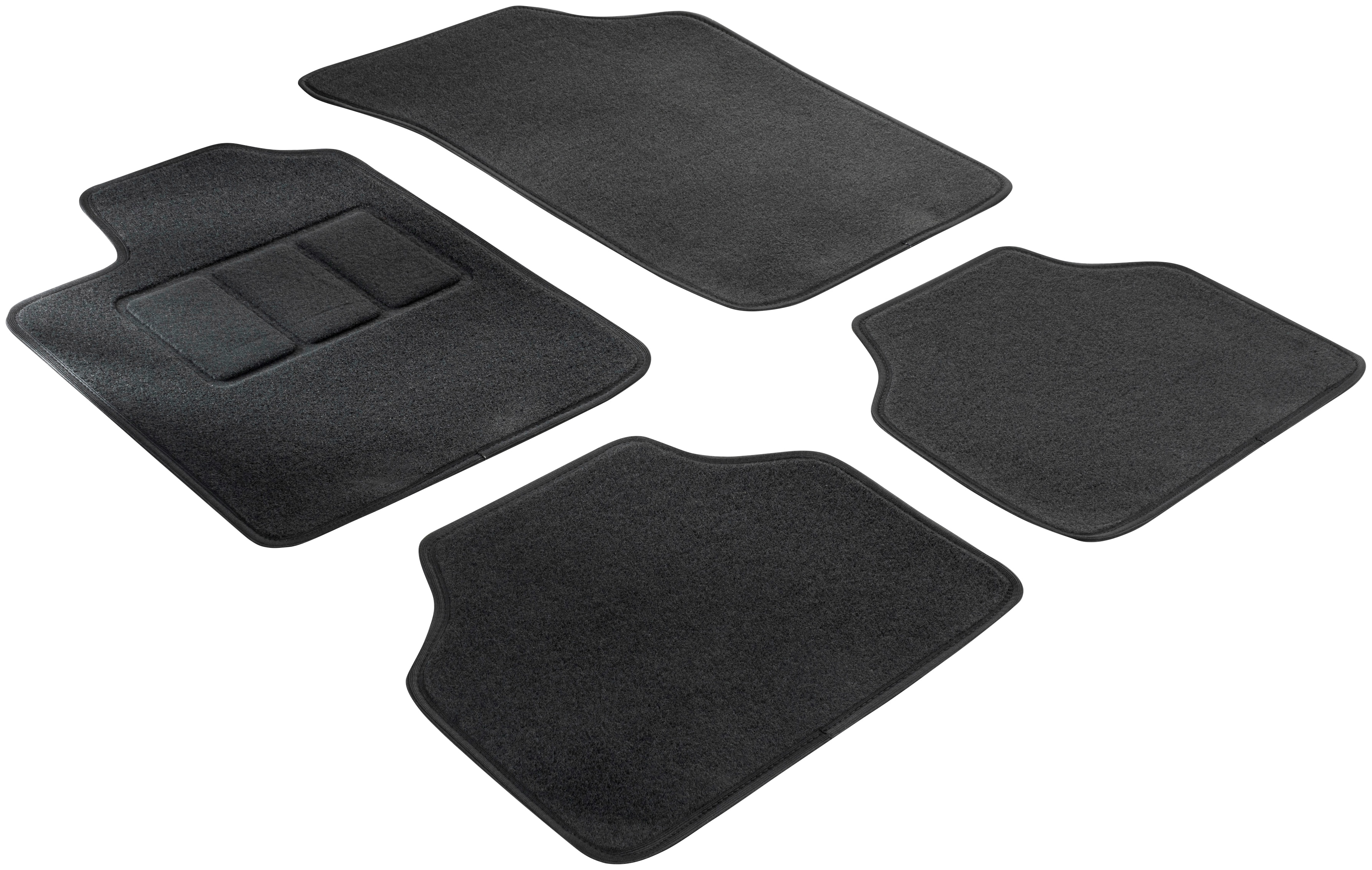 WALSER Passform-Fußmatten für Renault Clio und Renault Modus