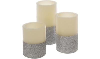 "LED - Kerze ""Silver Star"", (Set, 3 - tlg.) kaufen"