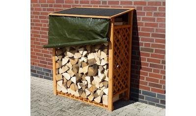 promadino Kaminholzregal »Speyer«, mit Wetterschutz kaufen