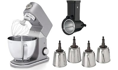 WMF Küchenmaschine Profi Plus und 4 auswechselbaren Cormargan® Schneideinsätzen, 1000 Watt, Schüssel 5 Liter kaufen