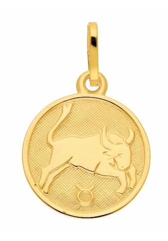 Adelia´s Kettenanhänger »333 Gold Sternzeichen Anhänger Stier Ø 11,8 mm«, Goldschmuck... kaufen