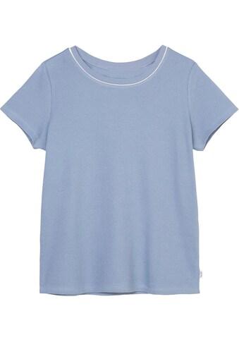 Marc O'Polo DENIM T-Shirt, mit Kontrast-Streifen am Ausschnitt kaufen