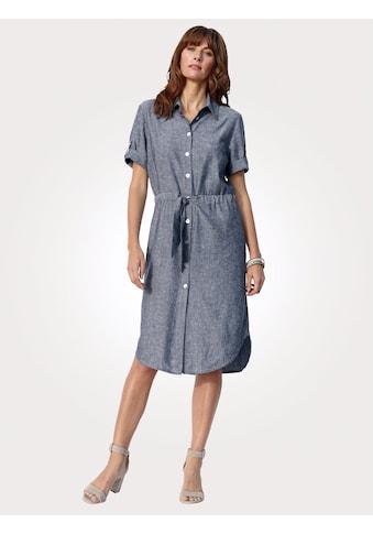 Mona Hemdblusenkleid, in Viskose-Leinen-Mischung kaufen